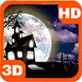 Full Moon Scary Bats in Clouds Android Personalization 3D Live Wallpaper download from piedlove.com