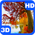 Haunted Foliage Autumn Pond Android Personalization 3D Live Wallpaper download from piedlove.com