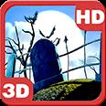 Haunted Hills Moon Light Bats Android Personalization 3D Live Wallpaper download from piedlove.com