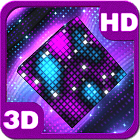 Bright Sparkling Pixel Cube 3D Deluxe HD Edition 3D Live Wallpaper