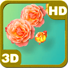Tender Yellow Pink Roses Deluxe HD Edition 3D Live Wallpaper
