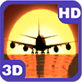 Airplane Sunset Landing Deluxe HD Edition 3D Live Wallpaper