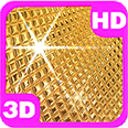 Amazing Golden Disco Ball Deluxe HD Edition 3D Live Wallpaper
