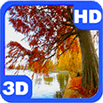 Autumn Pond Willow View Android Personalization 3D Live Wallpaper download from piedlove.com