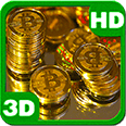 Raining Magnificent Golden Coins Android Personalization 3D Live Wallpaper