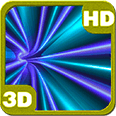 Blue Tunnel of Teleport Vortex Deluxe HD Edition 3D Live Wallpaper for Android