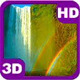 Bright Rainbow Waterfall HD Live Wallpaper for Android OS