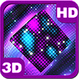 Bright Sparkling Pixel Cube 3D Deluxe HD Edition 3D Live Wallpaper for Android