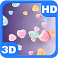 Candy Sweet Hearts of Love 3D Deluxe HD Edition 3D Live Wallpaper