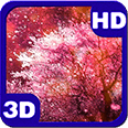 Purple Cherry Blossoms Spring Wind Android Personalization 3D Live Wallpaper download from piedlove.com