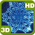 Christmas Crystal Snowflakes Whirl 3D Android Personalization 3D Live Wallpaper download from piedlove.com