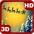 Christmas Santa Forest Night Android Personalization 3D Live Wallpaper download from piedlove.com