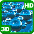 Chrome Spheres Torque 3D Flock Deluxe HD Edition Live Wallpaper