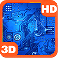 Circuit Board Sparkling Ways Deluxe HD Edition 3D Live Wallpaper