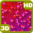 Colorful Drifting Love Hearts Deluxe HD Edition 3D Live Wallpaper