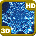 Crystal Snowflakes Snowfall Deluxe HD Edition 3D Live Wallpaper for Android
