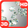 Diamonds Chic Flow Fall Deluxe HD Edition 3D Live Wallpaper for Android