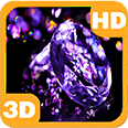 Diamonds with Violet Gems Deluxe HD Edition 3D Live Wallpaper