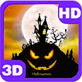 Divine Halloween Bats House Deluxe HD Edition 3D Live Wallpaper for Android