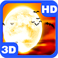 Full Moon Scary Flying Bats Themes Deluxe HD Edition 3D Live Wallpaper