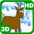 Funny Deers Merry Christmas Deluxe HD Edition 3D Live Wallpaper