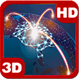 Futuristic Network Globe Deluxe HD Edition 3D Live Wallpaper for Android