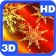Gold Star Christmas Snowflakes Deluxe HD Edition 3D Live Wallpaper for Android