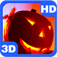 Halloween Eve Themes with Moon Spooky Scary House Pupkins Android Personalization 3D Live Wallpaper download from piedlove.com