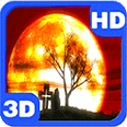 Halloween Mystery Red Sky Moon Android Personalization 3D Live Wallpaper download from piedlove.com