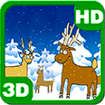 Happy Christmas Winter Forest Deluxe HD Edition 3D Live Wallpaper