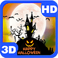 Happy Halloween Full Moon Hill Android Personalization 3D Live Wallpaper download from piedlove.com