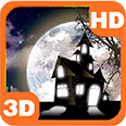 Haunted Cemetery Spooky Moon Deluxe HD Edition 3D Live Wallpaper