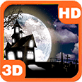 Haunted House Full Moon Bats Android Personalization 3D Live Wallpaper download from piedlove.com