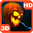 Lightning Halloween Pumpkin Deluxe HD Edition 3D Live Wallpaper