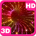 Mysterious Sparkling 3D Whirl of Shimmering Lights Android Personalization download from piedlove.com