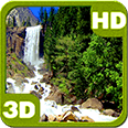 Nice Tall Waterfall Deluxe HD Edition 3D Live Wallpaper