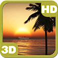 Oceanic Cruise Sunset Ship Deluxe HD Edition 3D Live Wallpaper