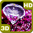 Perfect Sparkling Pink Jewel Stone Android Personalization 3D Live Wallpaper download from piedlove.com