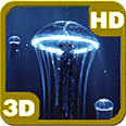 Precious Jellyfish 3D Hovering Under Deep Blue Sea Personalization for Android [PiedLove]