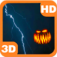 Pumpkins Scary Storm Lightning Android Personalization 3D Live Wallpaper download from piedlove.com