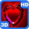 Red Shaped Magic Diamond Deluxe HD Edition 3D Live Wallpaper for Android