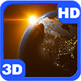 Revolving Earth Space Scenery Deluxe HD Edition 3D Live Wallpaper