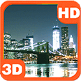 Skyline Bridge Night City View Deluxe HD Edition 3D Live Wallpaper