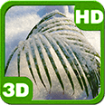 Snowy Tender Palm Branch Android Personalization 3D Live Wallpaper download from piedlove.com