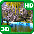 Spring Park Sakura Blossoms Android Personalization 3D Live Wallpaper download from piedlove.com
