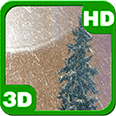 Spruce Magic Snowfall Android Personalization 3D Live Wallpaper download from piedlove.com