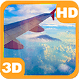 Traveler Flight Thru the Sky Android Personalization 3D Live Wallpaper download from piedlove.com