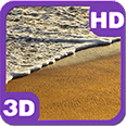 Tropical Sandy Beach Waves Deluxe HD Edition 3D Live Wallpaper