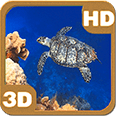 Turtle Swimming Coral Reef Deluxe HD Edition 3D Live Wallpaper