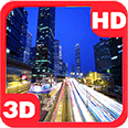 Urban Night Lights Road Rush Hour Flow Android Personalization 3D Live Wallpaper download from piedlove.com